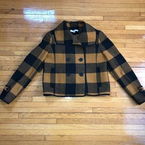 Flannel cropped jacket
